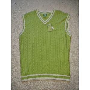 NWT Brooklyn Green Knit Vest